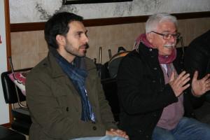 Alberto Domínguez, a l'esquerra, amb Pau Sanromán.