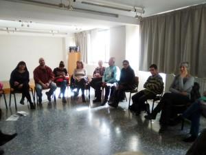 Un moment de la trobada. Fotografia: Biblioteca de la Llagosta.