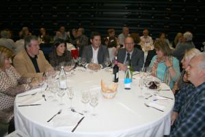 La taula presidencial del sopar de dissabte.