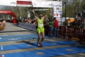 Óscar Rodríguez després de creuar la meta.