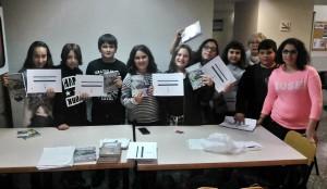El grup de nois i noies d'11 i 12 anys que han participat al certamen.