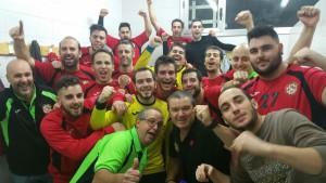Celebració de la victòria contra el Gavà B. Fotografia: Twitter JH la Llagosta.