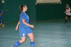 Iris Gutiérrez va fer els dos gols contra el CN Caldes.