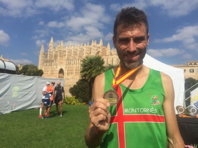 Albert Caballero, subcampió estatal veterà de marató a Mallorca