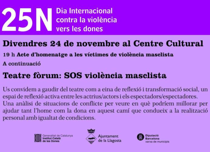 L'Ajuntament farà avui un homenatge a les víctimes de violència masclista