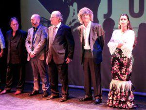 D'esquerra a dreta. Lolo de Jerez, Ismael Cabrera, Blas Maqueda, José de los Camarones i Laura Marchal.