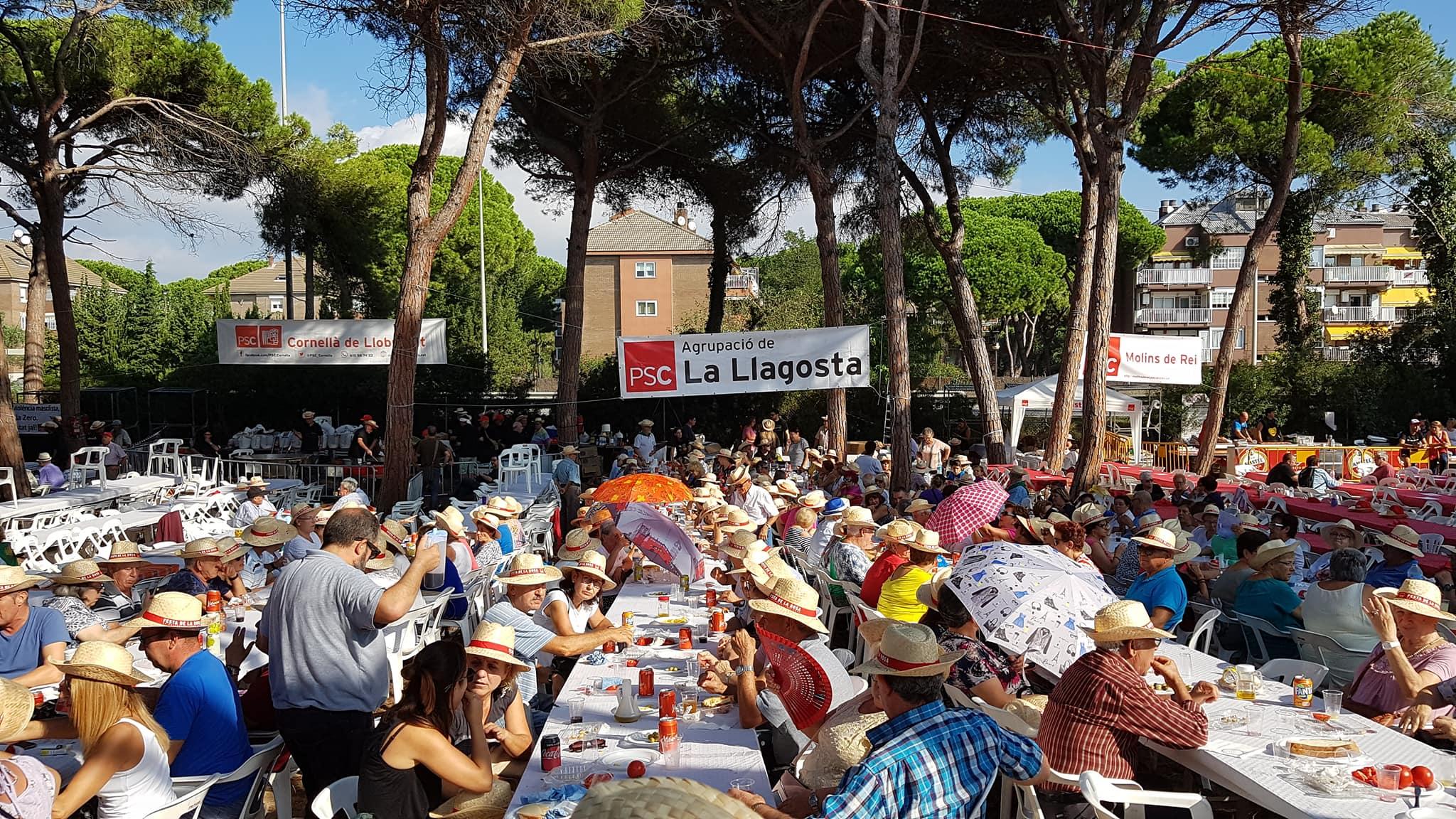 Més de 230 llagostencs van assistir diumenge a la Festa de la Rosa del PSC