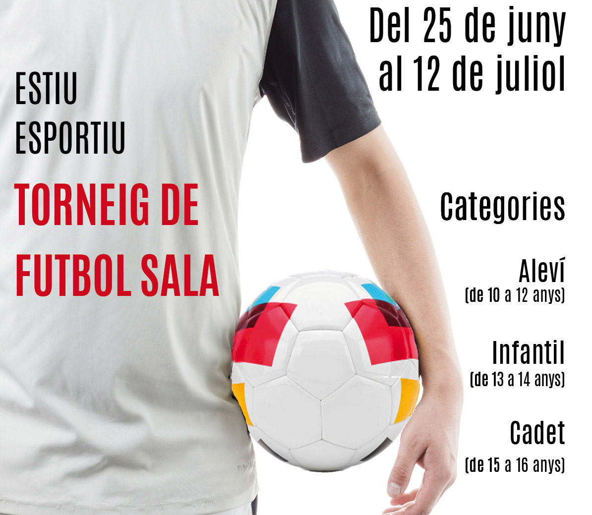 L'Ajuntament farà un torneig d'estiu de futbol sala per a categories de base