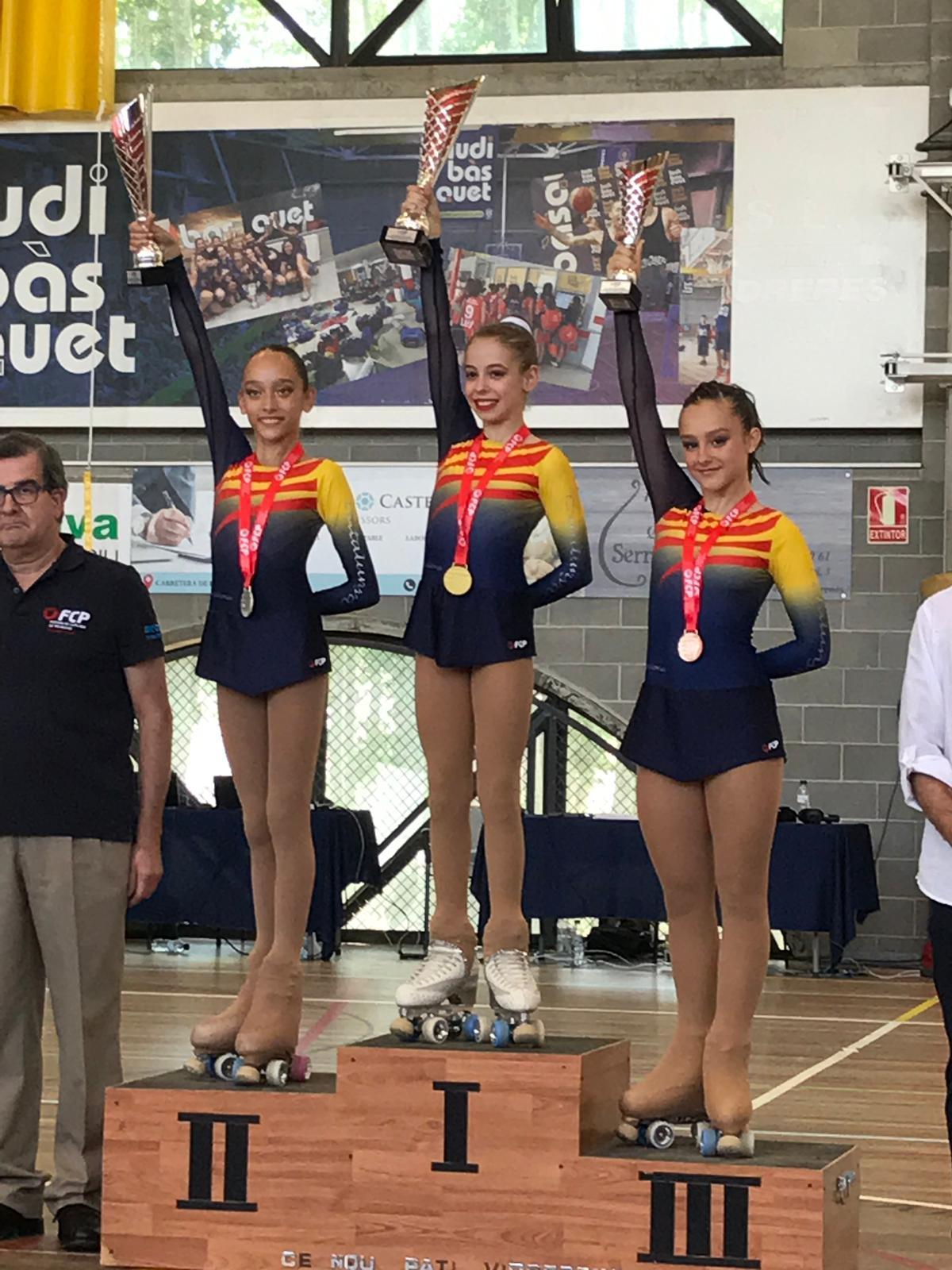 Les germanes Paula i Clàudia Román, campiones de Catalunya
