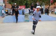 Alumnes de l'INS Marina participen a unes jornades d'esports de roda petita