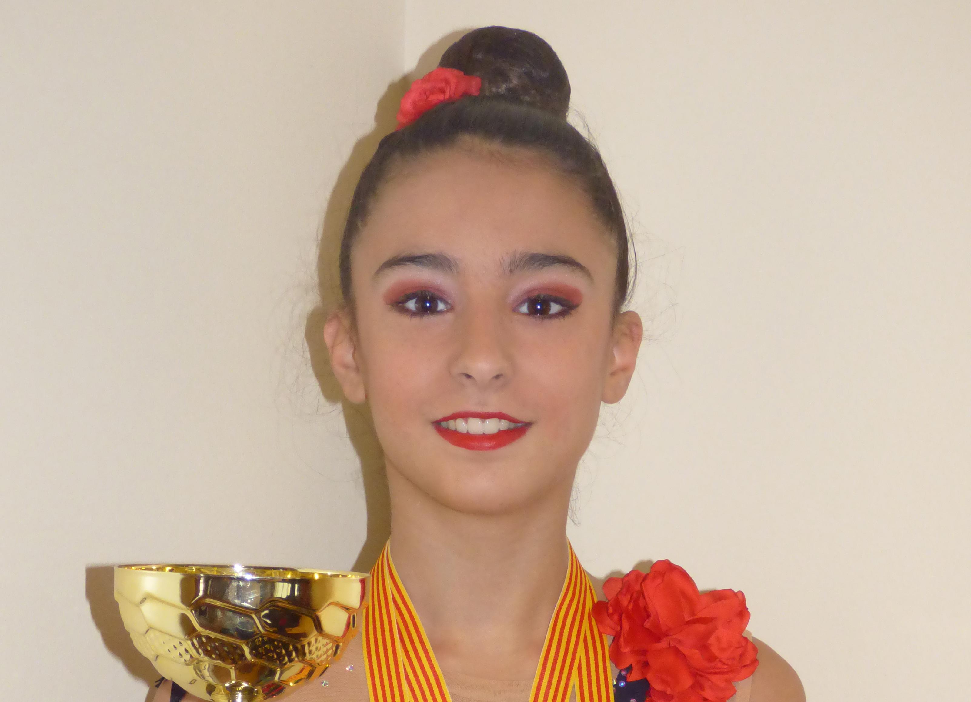 Nadia Valero, campiona de la Copa de Catalunya de gimnàstica rítmica