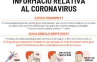 L'Ajuntament informa la ciutadania sobre el coronavirus