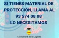 La ciutadania, entitats i comerços donen material de protecció del coronavirus