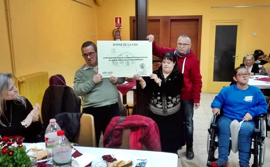El Sopar Solidari de la Parròquia recapta 1.000 euros per a Aspayfacos
